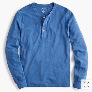 J. Crew Garment-dyed slub cotton henley, NWT!